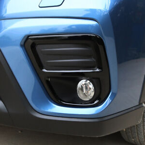 For Subaru Forester SK 2019 2020 Glossy Black Front Fog Light Lamp Cover Trim