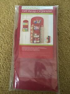 Holiday Hanging Gift Wrap Organizer, Suspends from Any Closet Rod or Hook, Multi