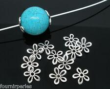 500 Perles intercalaires Fleur 11x11mm