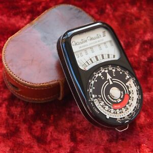 Classic WESTON MASTER III 3 Light Exposure METER with case. Vintage Photography