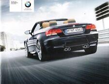 2008 BMW M3 Convertible Original sales Brochure MINT