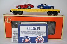 LIONEL O SCALE #6-17527 TRAILER TRAIN FLAT CAR W/ DODGE VIPERS LOAD, BOXED