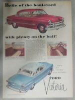 Ford Car Ad: New Ford Victoria ! from 1951 Size: 11 x 15 inches