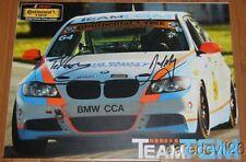 2014 Team TGM BMW 328i ST signed IMSA CTSC postcard Giovanis Murry