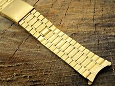 Pulsar Vintage NOS Unused Stainless Steel Watch Band 17.5mm Deployment Curved