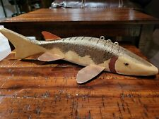 "14"" Sturgeon Fish Decoy (Walleye Pattern) -  Andrew Luelloff"