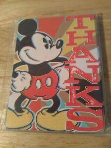 "Disney/Hallmark® Mickey Mouse Thank You Cards ""Thanks""  Blank Inside  New"