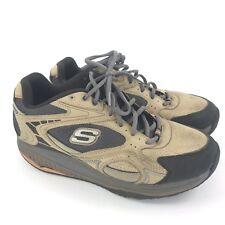 SKECHERS Shape Ups Brown XT Rendition 52007 Lace Up Sneakers Shoes Men's Sz 8