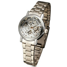 luxury steel skeleton mechanical watch women relogio femilino fashion army reloj