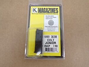 Colt Junior pistol 25 ACP magazine by Triple K - Model 363M
