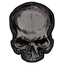 Jumbo Gothic Skull 4 inch iron on sew on MC Outlaw Biker Patch