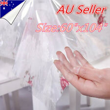 Clear Table Cloth Kitchen Dining Bar Protector Dining Camping Picnic Plastic
