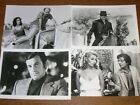 LOT 4 PHOTOS STARS DE CINEMA / DELON, BELMONDO, DENEUVE, CLAVIER, JUGNOT / TBE