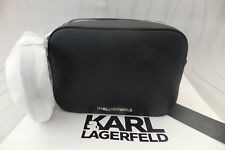 Karl Lagerfeld Genuine Ladies K/Mau Medium Cross Body Bag Black BNWT & Dust Bag