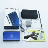 New Blue Cobalt & Black Nintendo DS Lite HandHeld Console System GBA games +gift
