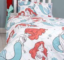 Kids Children Little Mermaid Printed Reversible Duvet Bed Cover With Pillowcase