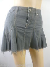 MISS SELFRIDGE Femmes Gris 100% Short Coton Mini Jupe UK 10 UE 38