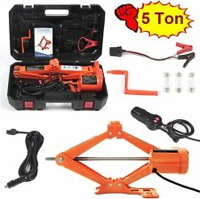 Electric Car Floor Jack 5 Ton All-in-one Automatic 12V Scissor Lift Jack Set ...