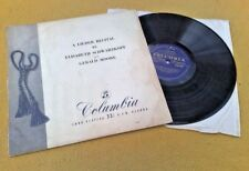 """ LIEDER RECITALS  "" SCHWARZKOPF / MOORE 33CX 1044 SUPERB BLUE GOLD UK COLUMBIA"