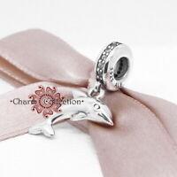 Pandora Playful Dolphin Pendant S925 Bracelet Charm, NEW,  791541CZ