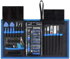 Professional Screwdriver Repair Tool Kit 80 in 1 with 56 Bits Compatible with El