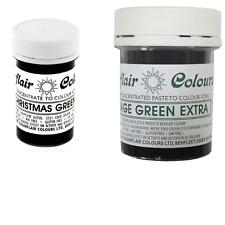 Sugarflair Paste Gel Edible Food Colouring Icing - Xmas Green & Foliage Green