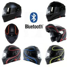 Torc T28 Motorcycle Helmet Bluetooth - Flip Up Modular Inner Sun Shield DOT