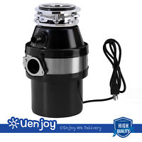 1.0 HP Garbage Disposal Continuous Feed Kitchen Food Waste with Plug 2600 RPM