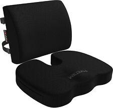 FORTEM Chair Seat Cushion & Lumbar Support Back Pillow, Orthopedic Memory Foam