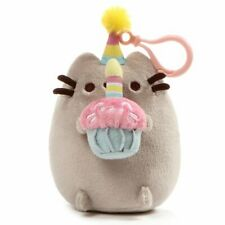 Gund NEW Pusheen BIRTHDAY CLIP Plush Cupcake Backpack 5-Inch Kitty