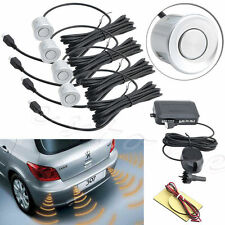 Parking 4 Sensors Car Reverse Backup Rear Buzzer Radar System Sound Alarm Silver