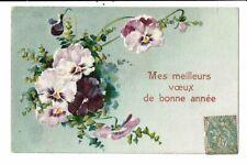 CPA Carte Postale avec un léger relief France-Mes meilleurs voeux de Bonne année