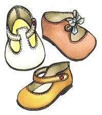 Sewing pattern Re-Born doll Baby Toddler SHOE pattern in 8 different sizes 1560