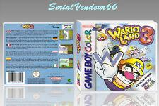 """Boitier du jeu """"WARIOLAND 3"""", Game Boy Color. PAL FR. HD. SANS LE JEU."""