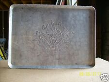 """Hand Wrought Aluminum Floral Tray Federal S. Co. 11-1/2"""" x 15-3/4"""""""