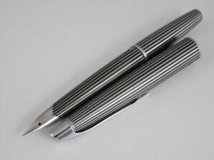 PILOT MYU Stripe Fountain Pen F (used) FREE SHIPPING WORLDWIDE