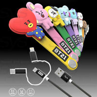 BTS BT21 Official Authentic Goods 3 in 1 Cable 8Characters With Tracking Number