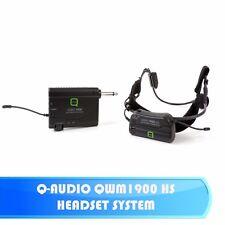 Q-AUDIO QWM1900 HS UHF WIRELESS AROBICS GYM ZUMBA INSTRUCTOR HEADSET MIC SYSTEM