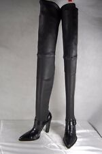 GIANVITO ROSSI LEATHER STRETCH  SLIM FITTED  OVER THE KNEE BOOTS EU 36.5 US 6.5