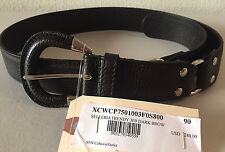 NWT Authentic $240+ TOD's Gorgeous Women's Casual Belt, Dark Brown 90 cm long