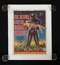 THE DAY THE EARTH STOOD STILL 1951 BELGIUM BELGIAN ORIGINAL MOVIE POSTER, RARE