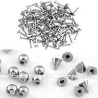100x Steel Ball Cone 16g Barbell Bars Cartilage Lip Labret Rings Body Piercing