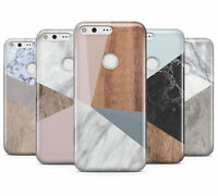 DYEFOR WOODEN MARBLE GEOMETRIC HARD MOBILE PHONE CASE COVER FOR GOOGLE PIXEL