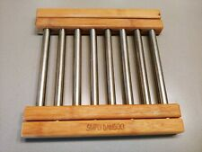 Simply Bamboo Expandable Hot Pad Trivet Kitchen Dining Protect Counter Up to