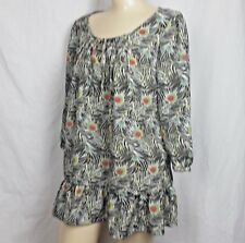 Liberty of London for Target sz M Peacock Print Boho Tunic Top Pink Turquoise