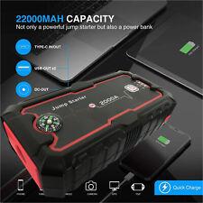 22000mAh Portable Car Jump Starter Battery Charger Dual USB Port Power Bank