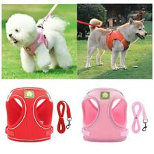 Small Dog Pet Puppy Harness And Leash Set Breathable Mesh Vest Chest Strap XS-XL