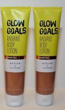 2 Bath & Body Works Active Skincare Glow Goals Radiant Body Lotion Bronzing 5.6