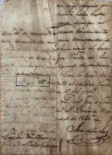 Manuscript of José de la Luz y Caballero, written in January 1826
