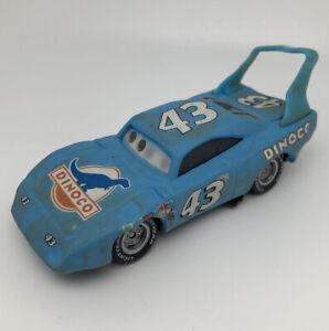 😍 Voiture CARS - DEMAGED KING DINOCO 43 / Accidenté - Mattel Disney Pixar RARE